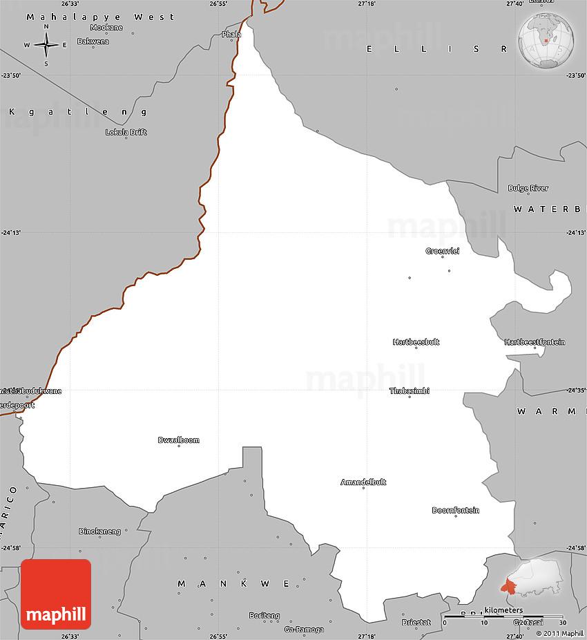 Gray Simple Map of THABAZIMBI