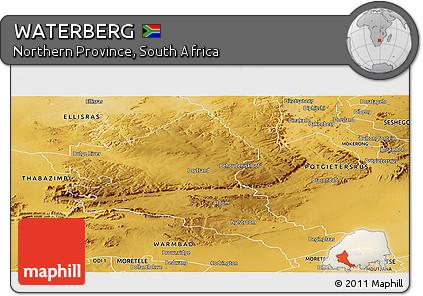 Free Physical Panoramic Map of WATERBERG
