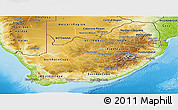 Physical Panoramic Map of South Africa