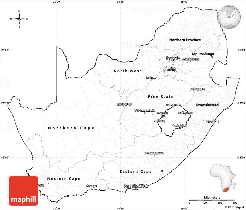 south africa map outline printable