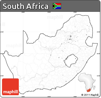 Map Of Africa No Labels.Free Blank Simple Map Of South Africa Cropped Outside No Labels