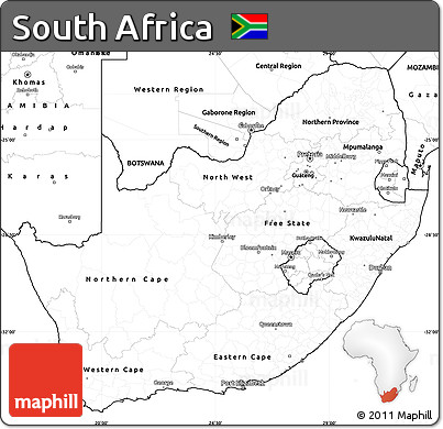 South Africa Blank Map