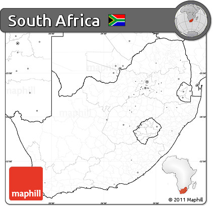 Map Of Africa No Labels.Free Blank Simple Map Of South Africa No Labels
