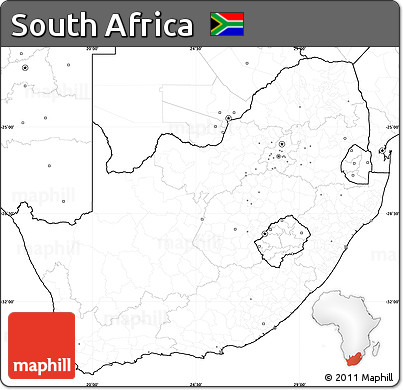 Free Blank Simple Map Of South Africa No Labels - Blank map of south africa