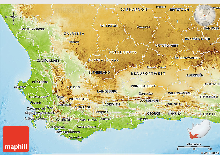 detailed map of western cape south africa Physical 3d Map Of Western Cape detailed map of western cape south africa