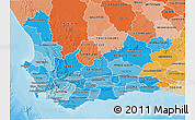 Political Shades 3D Map of Western Cape