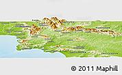 Physical Panoramic Map of CALEDON