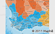 Political Shades Map of Western Cape