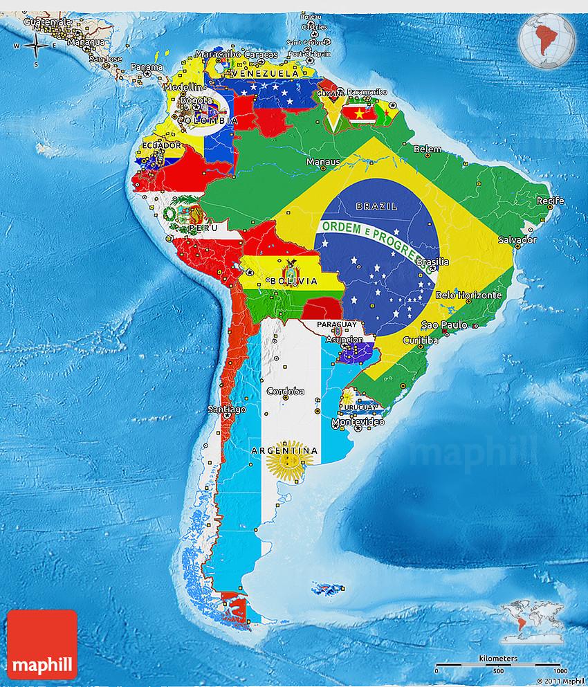North America Physical Map Freeworldmapsnet North America - Physical feature map of usa and canada