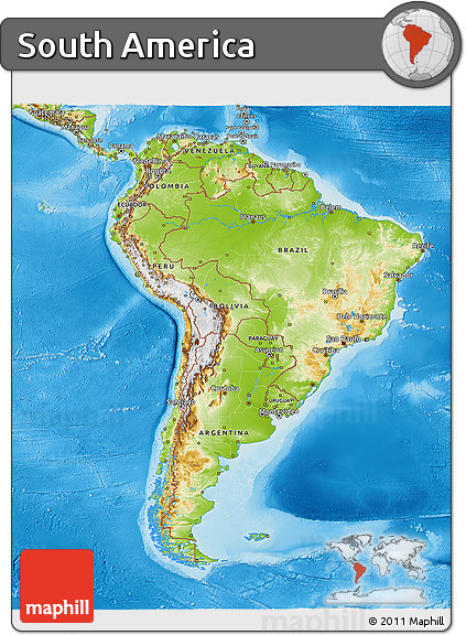 Physical Relief Map Of North America Climate Map Of North America - South america map physical