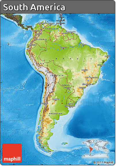 Free physical map of south america darken land only for How to get free land in usa