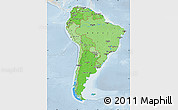 Political Shades Map of South America, lighten