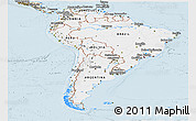 Classic Style Panoramic Map of South America
