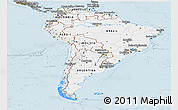 Gray Panoramic Map of South America