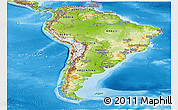 Physical Panoramic Map of South America