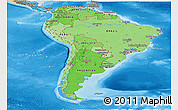 Political Shades Panoramic Map of South America