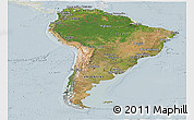 Satellite Panoramic Map of South America, lighten