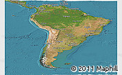 Satellite Panoramic Map of South America
