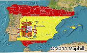 Flag 3D Map of Spain, satellite outside
