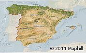 Satellite 3D Map of Spain, lighten