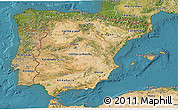 Satellite 3D Map of Spain