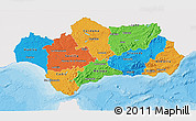Political 3D Map of Andalucia, single color outside