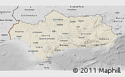 Shaded Relief 3D Map of Andalucia, desaturated