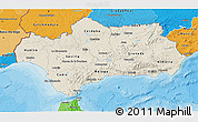 Shaded Relief 3D Map of Andalucia, political shades outside