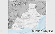 Gray 3D Map of Almería