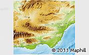 Physical 3D Map of Almería
