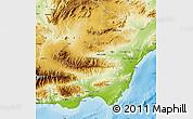 Physical Map of Almería