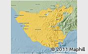 Savanna Style 3D Map of Cádiz