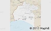 Classic Style 3D Map of Huelva