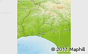 Physical 3D Map of Huelva