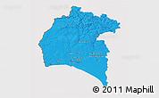 Political 3D Map of Huelva, cropped outside