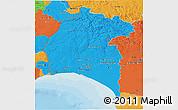 Political 3D Map of Huelva
