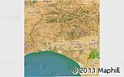 Satellite 3D Map of Huelva