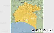 Savanna Style 3D Map of Huelva