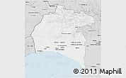 Silver Style 3D Map of Huelva