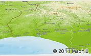 Physical Panoramic Map of Huelva