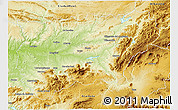Physical 3D Map of Jaén
