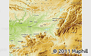Physical Map of Jaén