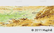 Physical Panoramic Map of Jaén