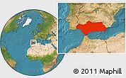 Satellite Location Map of Andalucia