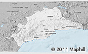Gray 3D Map of Málaga