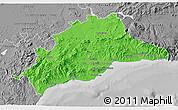 Political 3D Map of Málaga, desaturated