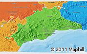 Political 3D Map of Málaga