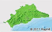 Political 3D Map of Málaga, single color outside