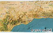 Satellite 3D Map of Málaga