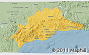 Savanna Style 3D Map of Málaga